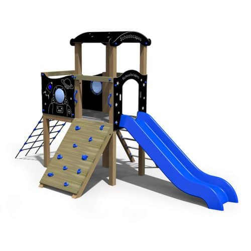 Space Themed Twin Deck School Play Tower