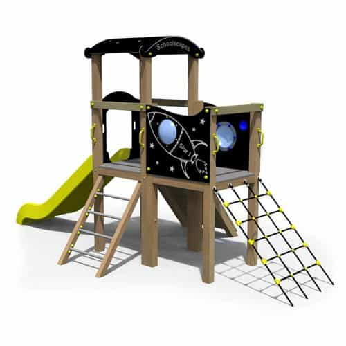 Space Themed Twin Deck Adventure Play Tower