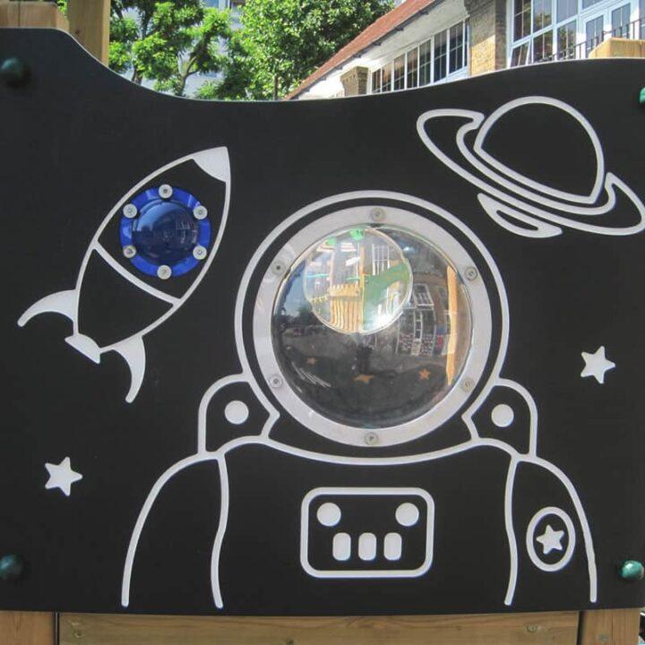 SpaceThemedTwinDeckTowerPannel SchoolPlaygroundTower
