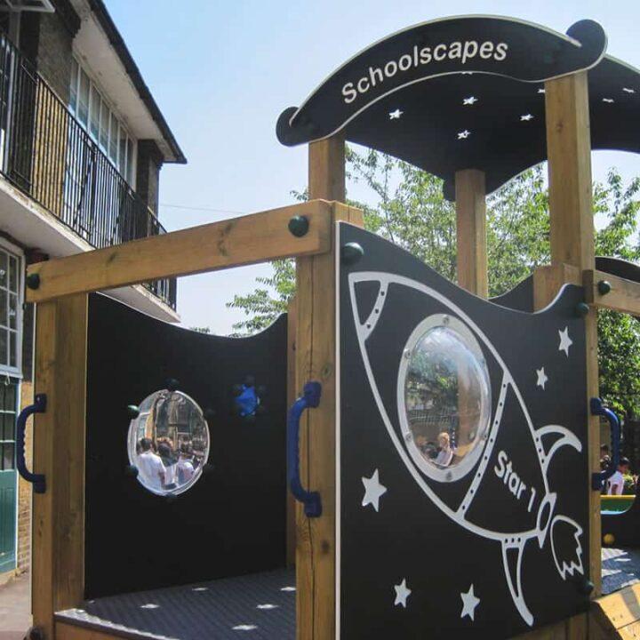 SpaceThemedTwinDeckTowerDeck SchoolPlaygroundTower