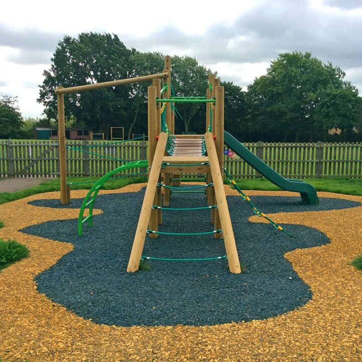 Resin Bound Rubber Bark Playground Surface