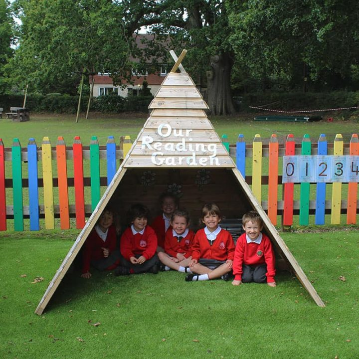 WoodenTeepeeFront SchoolPlaytimeHut