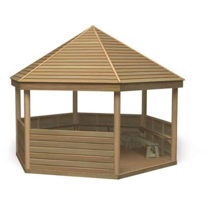 Gazebo with Desk and Bench