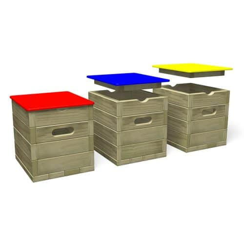 Seating Cube with HDPE Lid (Colours)