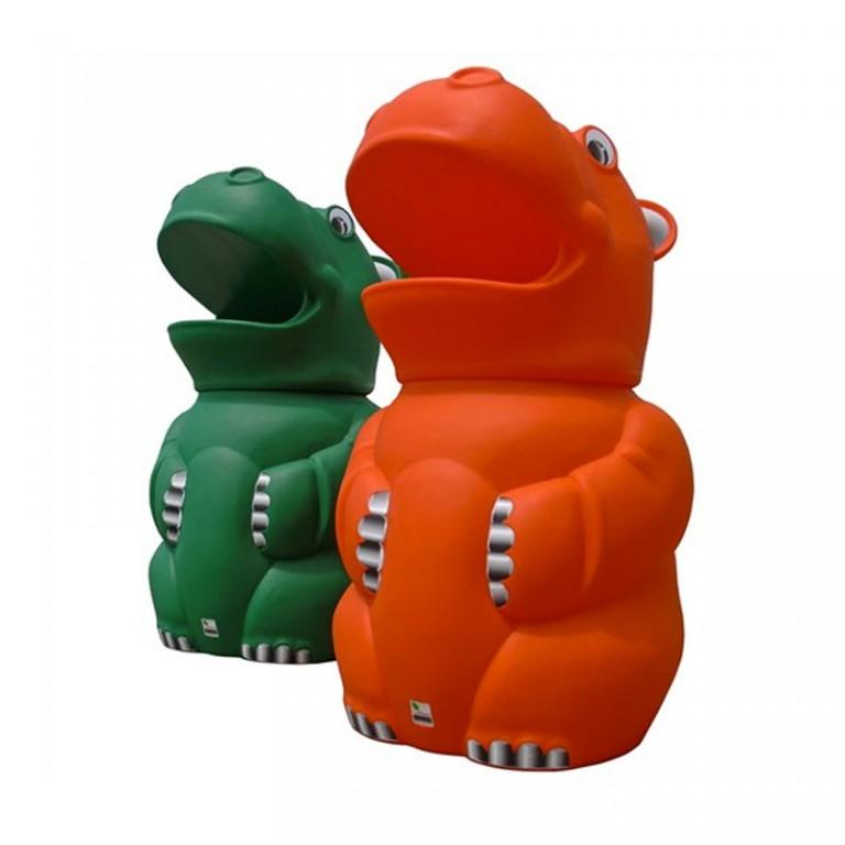 Hippo Playground Litter Bin