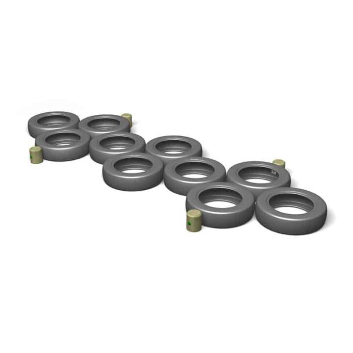 Tyre Hopscotch