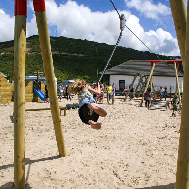 WoodenPlayZipWire PlaygroundSwingsandZipWires