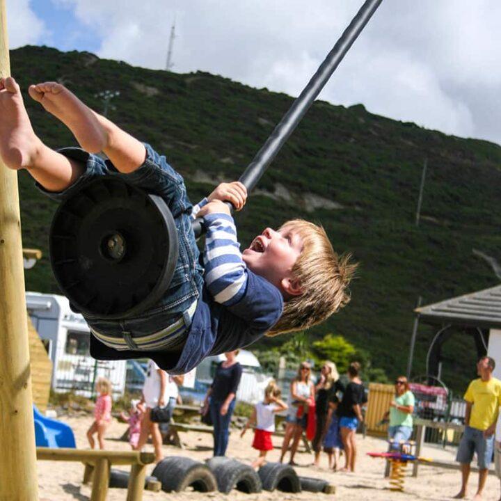 OutdoorPlayZipWirewithRubberSeat PlaygroundSwingsandZipWires