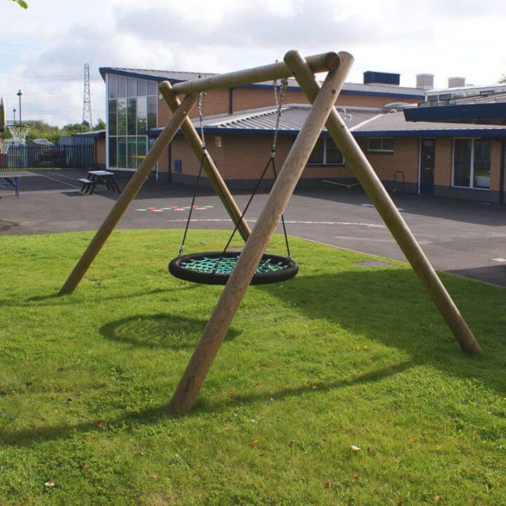 WoodenEagleNestSwing PlaygroundSwingsandZipWires