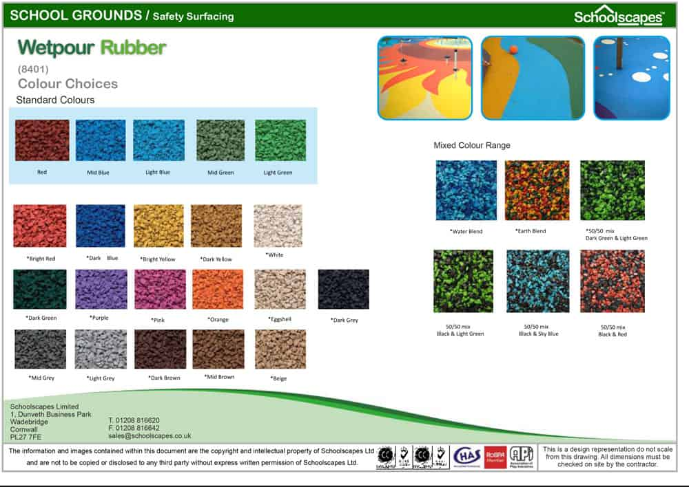 Wetpour Rubber Colour Choices