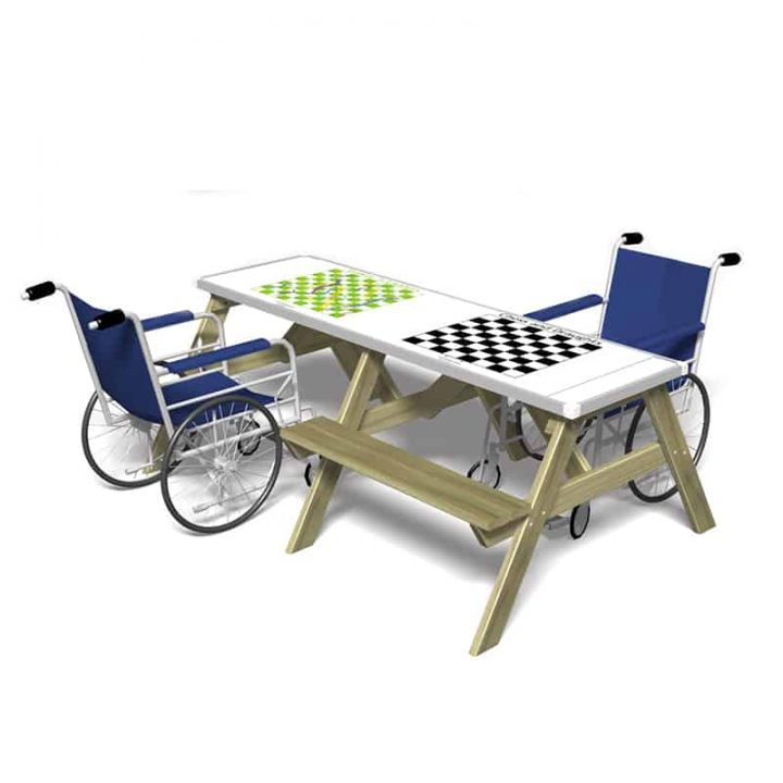 Accessible Picnic Table with GameTop Games
