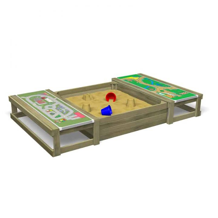 Covered Sandpit With GameTops