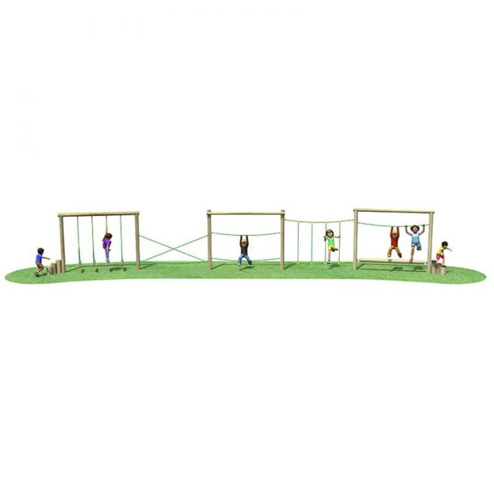 Linked Manhattan Playground Fitness Trail
