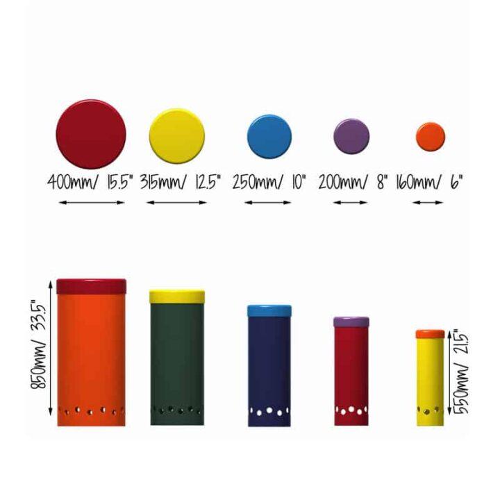 Tubano Drums Measurements