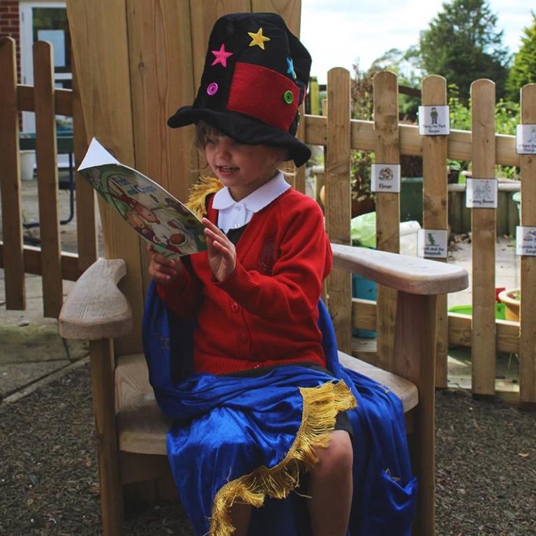 Wooden Storyteller's Chair