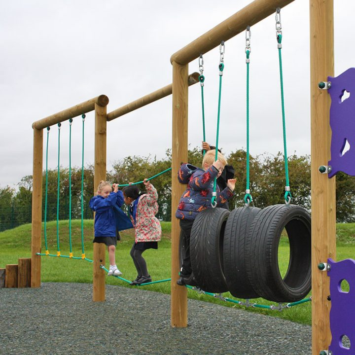 Brooklyn Timber Trail for Schools- Active Play Trim Trail