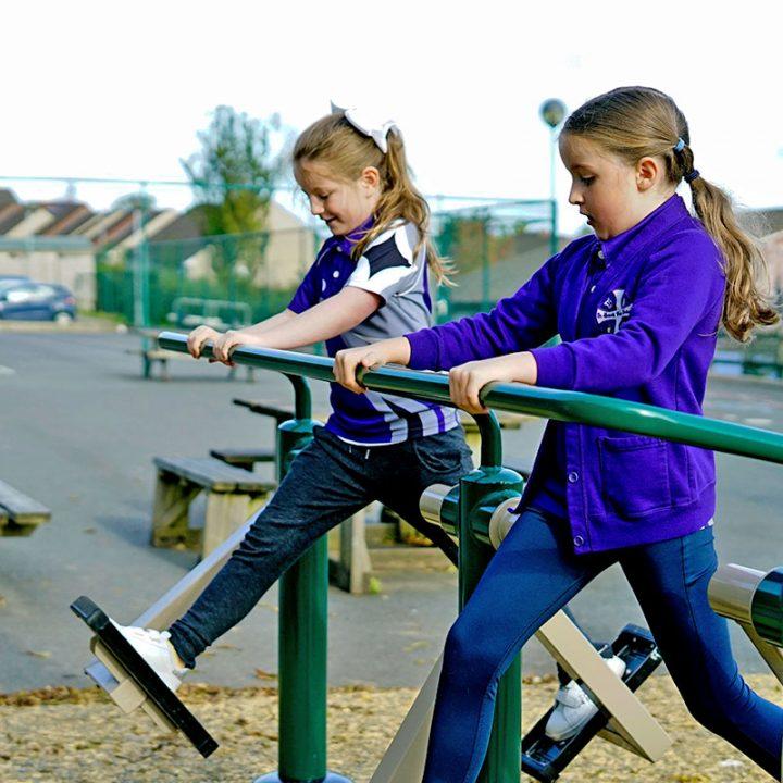 Outdoor Gym Equipment - Children's Air Skier