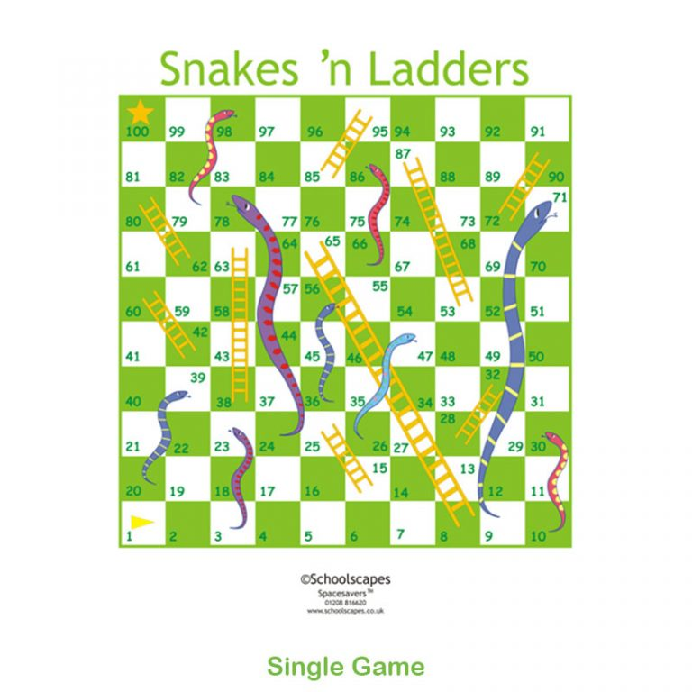 Snakes 'n' Ladders Single GameTop Game