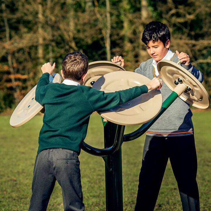 Children's Outdoor Gym Equipment - Tai Chi Discs