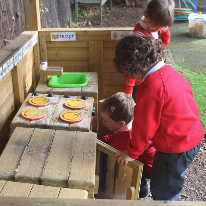 WoodenPlaytimeKitchenSpace SchoolPlaytimeHut