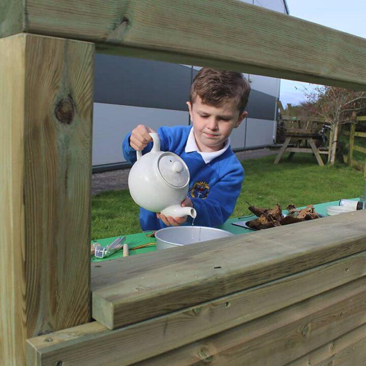 WoodenFramedMudKitchen SchoolPlaygroundEquipment