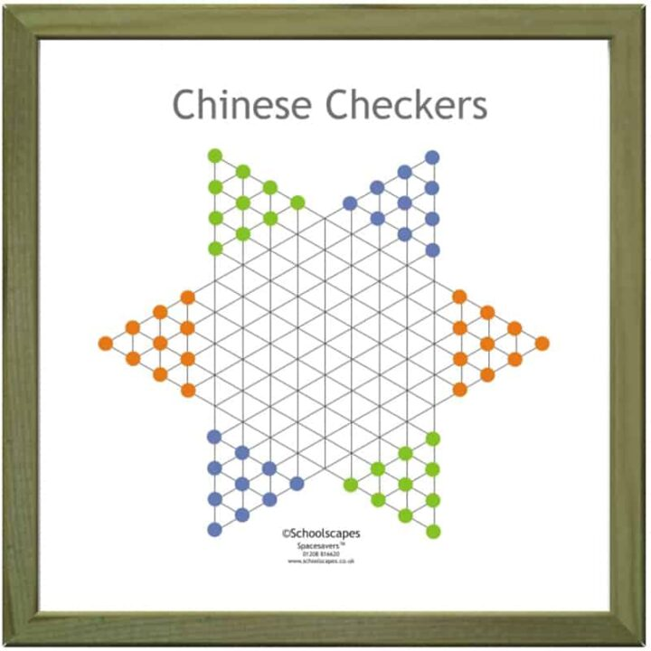 Chinese Checkers Magnetic Wall Game