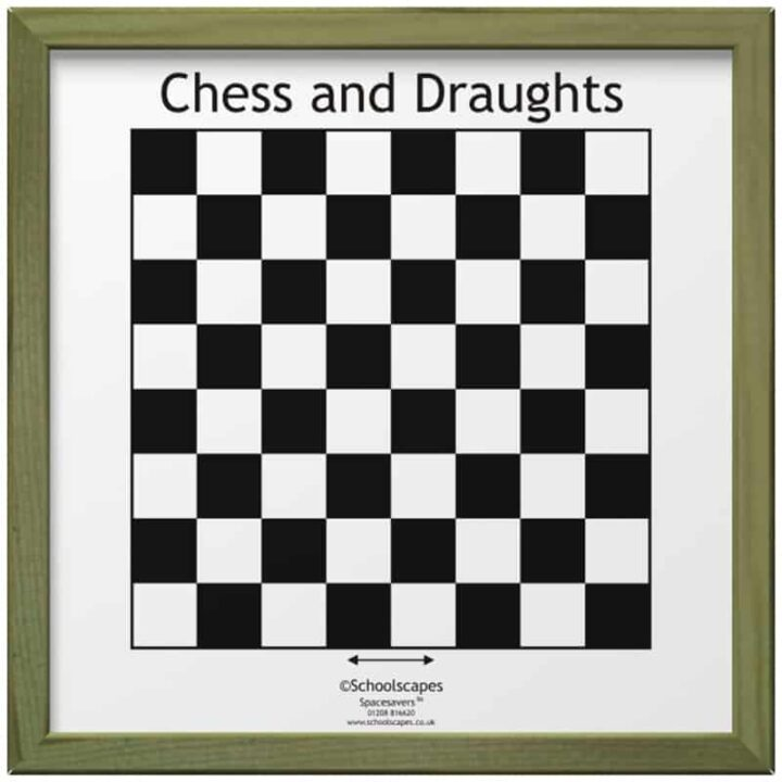 Chess and Draughts Magnetic Wall Game