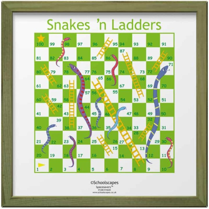 Snakes n' Ladders Magnetic Wall Game