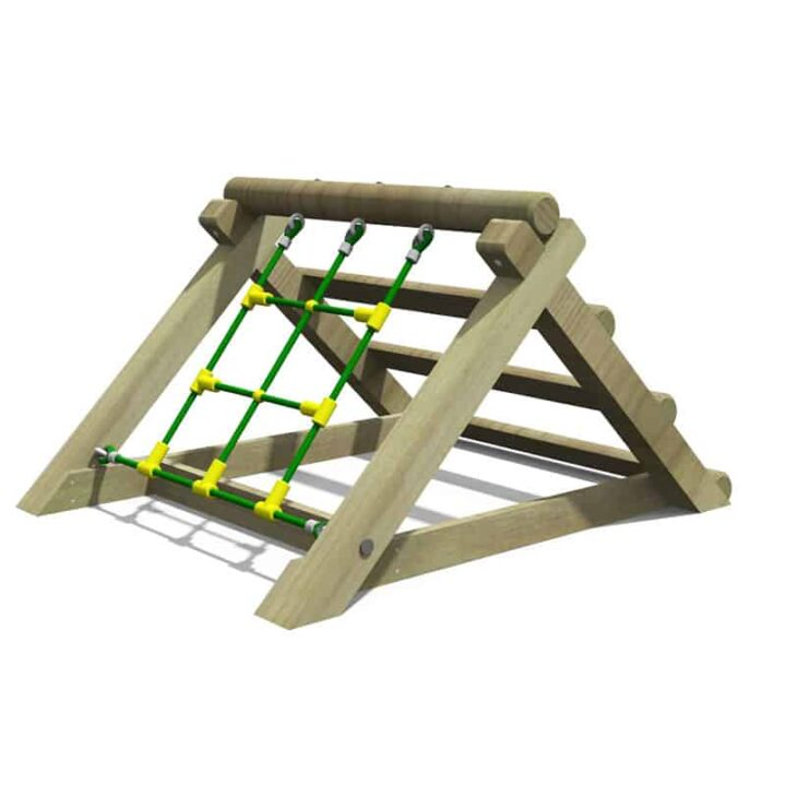 Freestanding Net & Log Climber