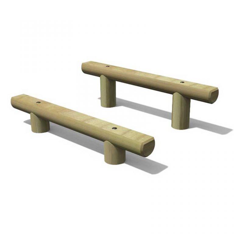 Timber Step & Dip Outdoor Gym Equipment