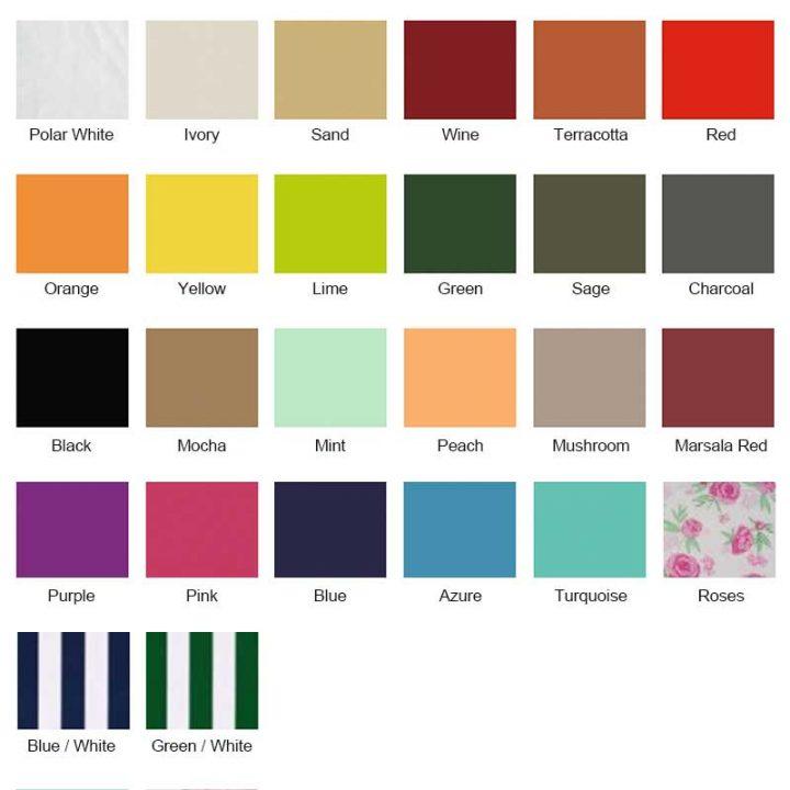 Shade Sail Colours